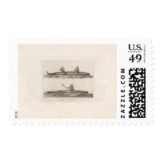 Canoes, Oonalashka, Alaska Stamp