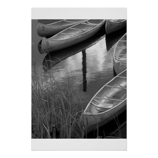 Canoes Poster