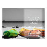 canoes rsvp 5x7 paper invitation card