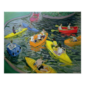 Canoes Wickstead Park Poster