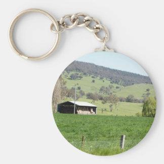 Canola & Country 01 Basic Round Button Keychain