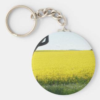 Canola & Country 05 Basic Round Button Keychain