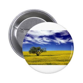 Canola Sky, Saskatchewan, Canada Pinback Button