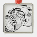 Canon 7d adorno cuadrado plateado