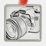 Canon 7d adorno navideño cuadrado de metal