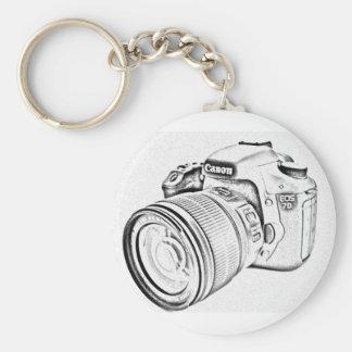 Canon 7d basic round button keychain