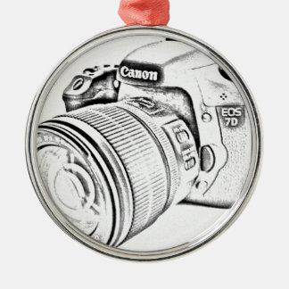 Canon 7d metal ornament