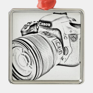 Canon 7d square metal christmas ornament