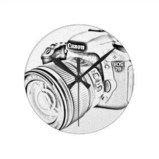 Canon 7d round clock