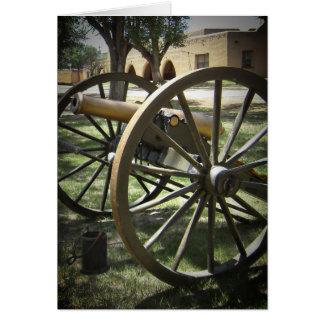 Canon antiguo en el fuerte Stanton New México Tarjetas