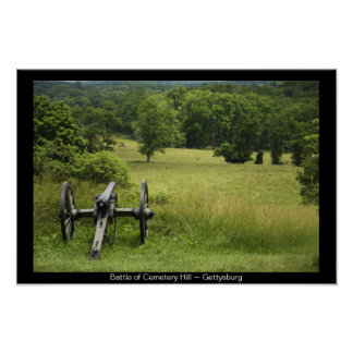 Canon at Cemetery Hill Poster Print