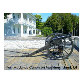 Canon at Fort Mackinac Postcard