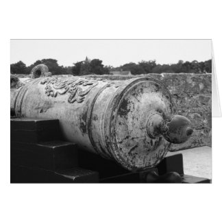 Canon at St Augustine Fort I bw Card