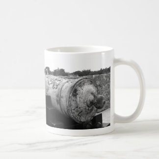 Canon at St Augustine Fort I bw Coffee Mugs