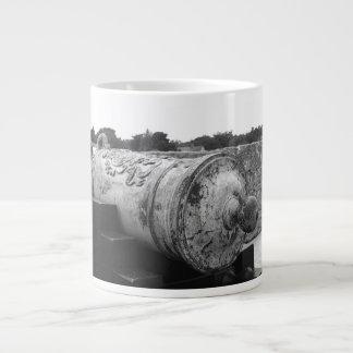 Canon at St Augustine Fort I bw Extra Large Mug