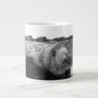 Canon at St Augustine Fort I bw Giant Coffee Mug