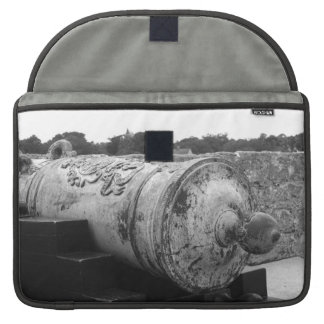Canon at St Augustine Fort I bw MacBook Pro Sleeve