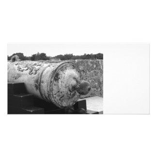 Canon at St Augustine Fort I bw Photo Card Template