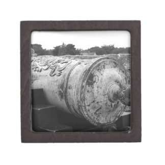 Canon at St Augustine Fort I bw Premium Keepsake Box
