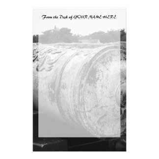 Canon at St Augustine Fort I bw Personalized Stationery