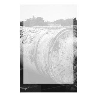 Canon at St Augustine Fort I bw Stationery Paper