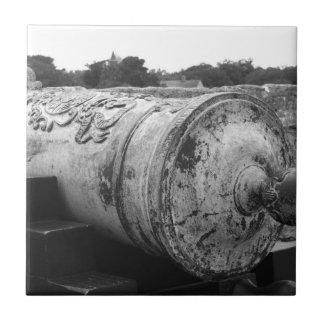 Canon at St Augustine Fort I bw Tile