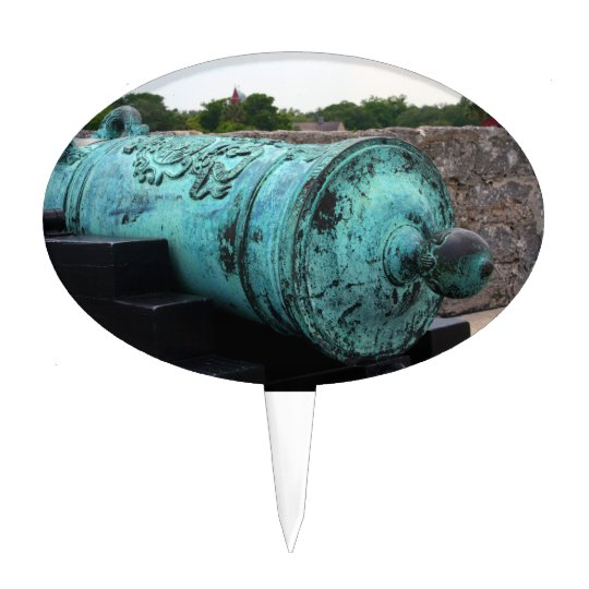 Canon at St Augustine Fort I Cake Topper