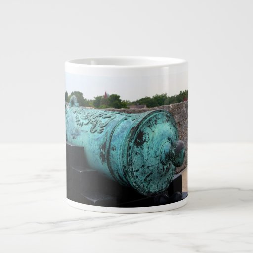 Canon at St Augustine Fort I 20 Oz Large Ceramic Coffee Mug
