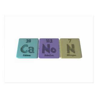 Canon-Ca-No-N-Calcium-Nobelium-Nitrogen.png Postcard