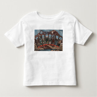 Canon City, Colorado - Large Letter Scenes Toddler T-shirt