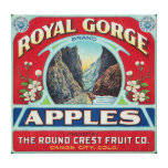 Canon City, Colorado - Royal Gorge Apple Label Gallery Wrapped Canvas