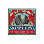 Canon City, Colorado - Royal Gorge Apple Label Post Cards