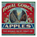 Canon City, Colorado - Royal Gorge Apple Label Poster