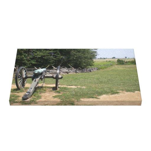 Cañón de Gettysburg e impresión de la lona del cam Impresion De Lienzo