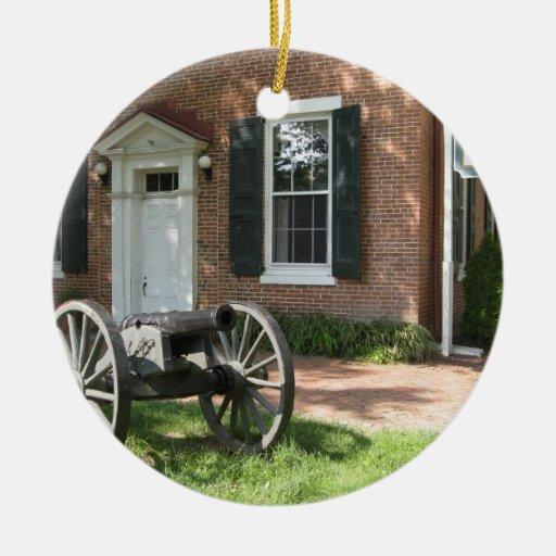 Cañón de la guerra civil adorno de navidad