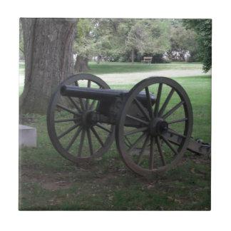 Cañón de la guerra civil en Gettysburg Tejas