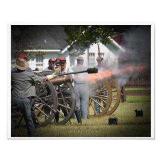 Cañón de la guerra civil fotografías