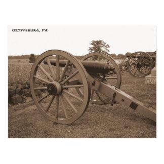 Cañón de la guerra civil, Gettysburg, PA Tarjetas Postales