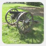 Cañón de la guerra civil calcomanía cuadradas personalizadas
