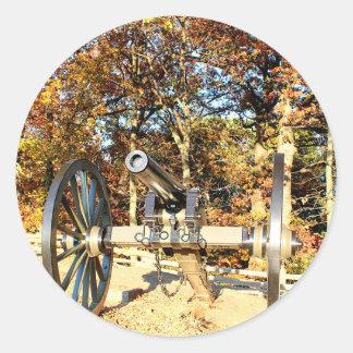 Cañón de la guerra civil pegatina redonda