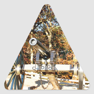 Cañón de la guerra civil pegatina triangular