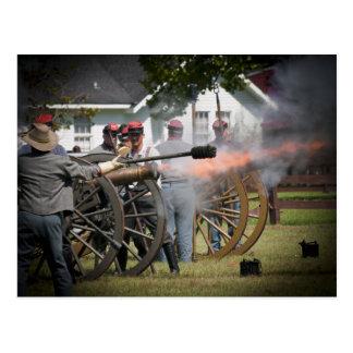 Cañón de la guerra civil postal