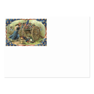 Cañón de la jarra de Molly de la bandera de los Tarjetas De Visita Grandes