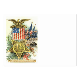 Cañón de marzo Eagle del ejército de la medalla de Tarjetas De Visita Grandes