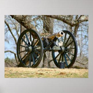 Cañón del latón de la guerra civil póster