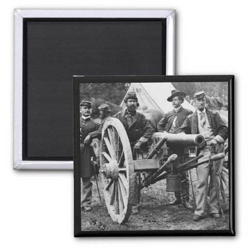 cañón del rifle de Ord de 3 pulgadas - guerra civi Imán Cuadrado