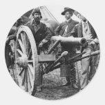 cañón del rifle de Ord de 3 pulgadas - guerra civi Etiqueta