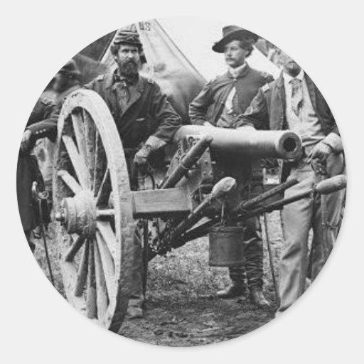 cañón del rifle de Ord de 3 pulgadas - guerra Etiqueta Redonda