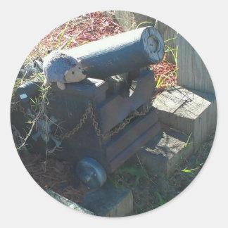 cañón del seto pegatina redonda