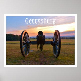 Cañón en la puesta del sol, Gettysburg NMP Póster